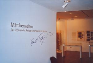 Sonderausstellung 2005 Märchenwelten - Der Schauspieler, Regisseur und Produzent Fritz Genschow