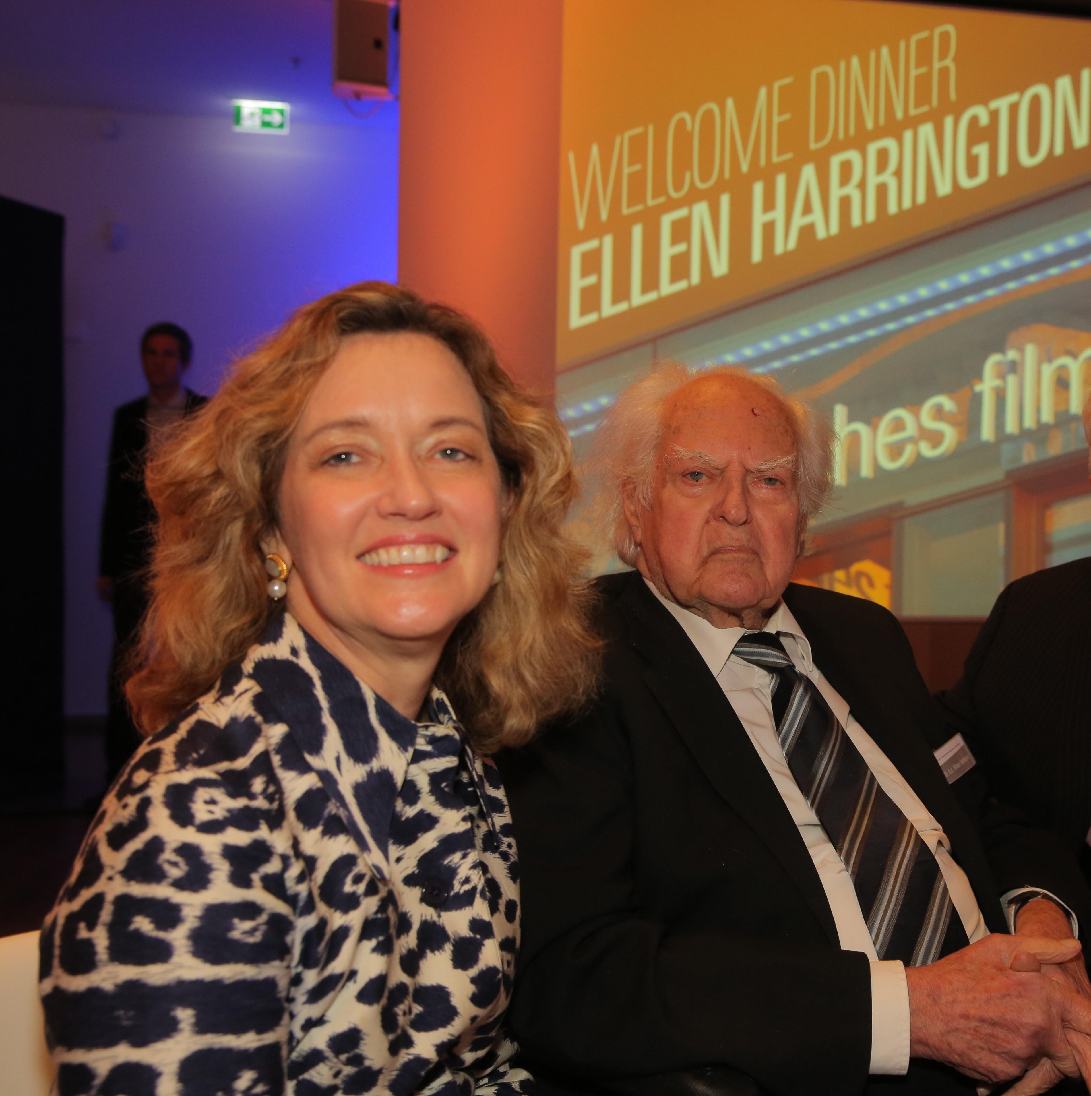 Ellen Harrington mit Hilmar Hoffmann im Januar 2018. Foto: Rafael Herlich