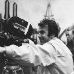 Maximilian Schell und Kameramann Wolfgang Treu bei Dreharbeiten zu DER FUSSGÄNGER (BRD/CH 1973, R: Maximilian Schell)