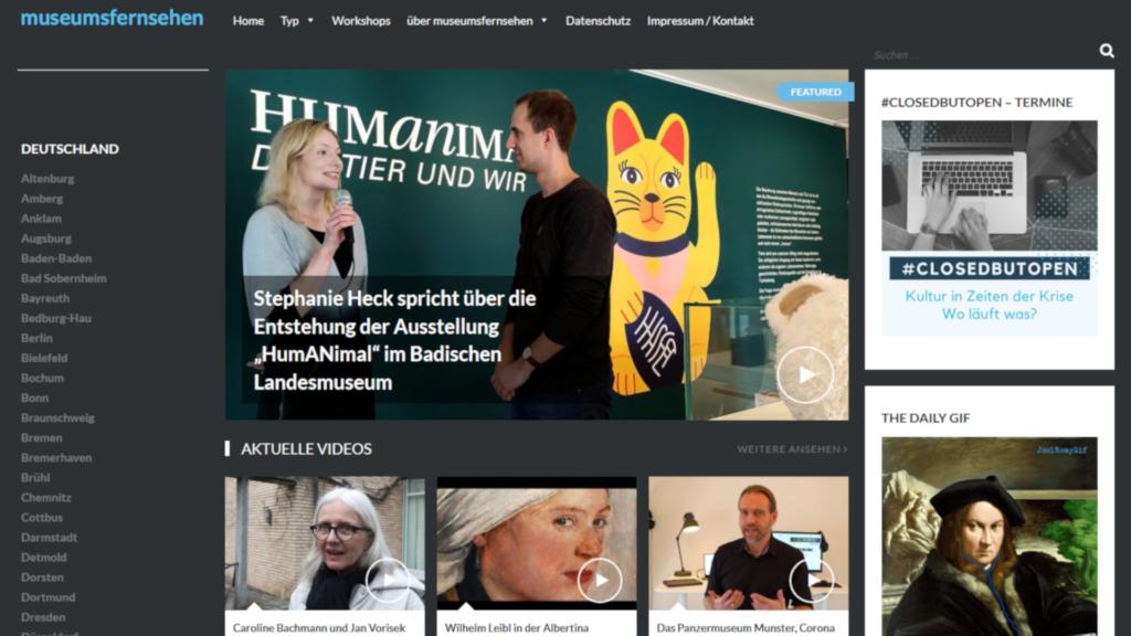 Screenshot museumsfernsehen.de