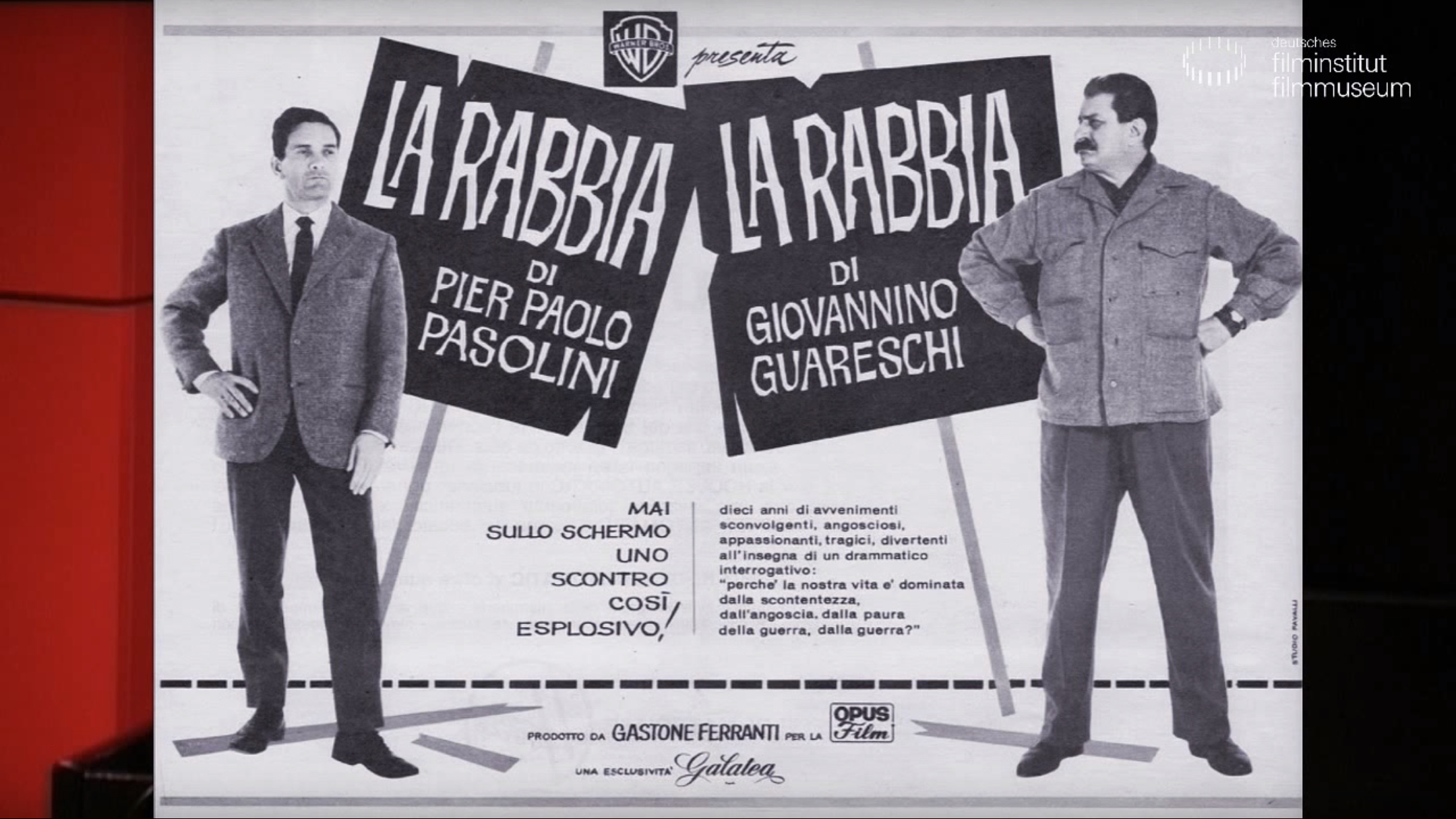 Lecture & Film zu Pier Paolo Pasolini // LA RABBIA   DFF.FILM