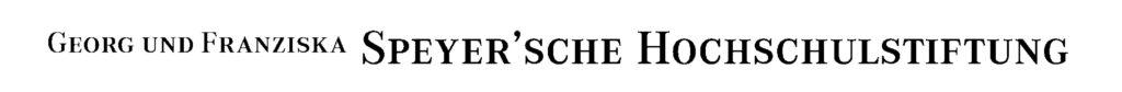 Logo Speyersche Hochschulstiftung