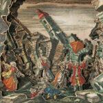 Martin Engelbrecht - Erdbeben in Lissabon (Gesamtansicht). Handkolorierte Kupferstiche, Augsburg um 1760